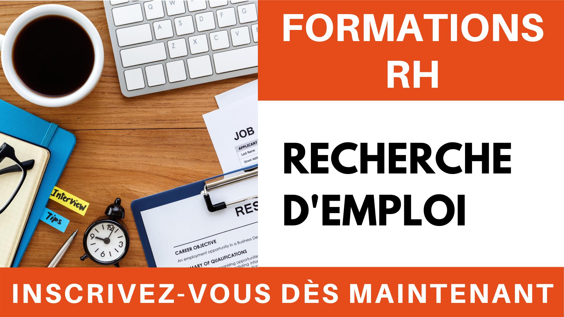 Formations RH - Recherche d'emploi et entretien d'embauche