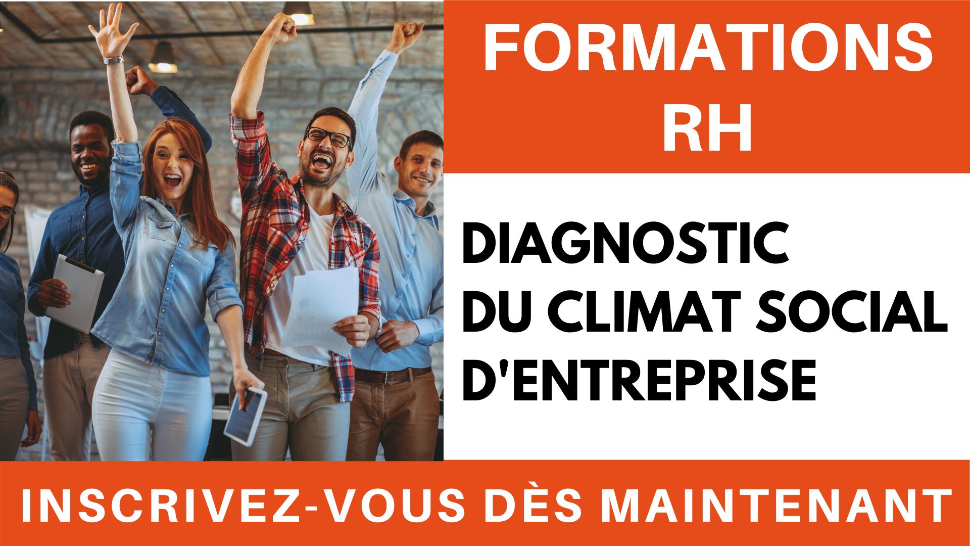Formation RH - diagnostic du climat social d'entreprise