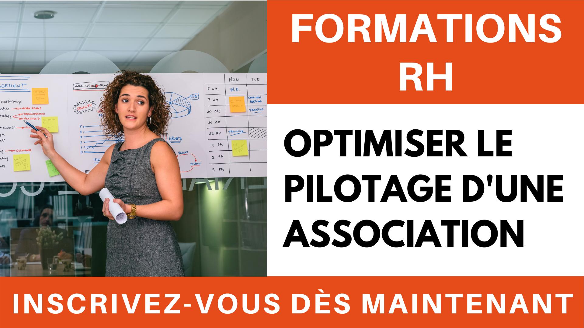 Formation RH - Optimiser le pilotage d'une association